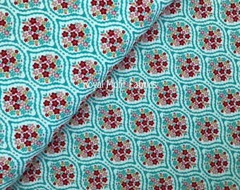 Riley Blake Forget Me Not - Chain Aqua by Tammie Green- Sold by the Yard - 100% Cotton