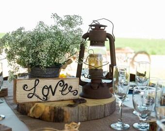 Wood Love Block - Love Sign - Rustic Love Sign - Rustic Wedding Decor - Rustic Home Decor