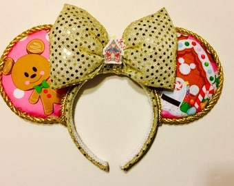 Gingerbread Mickey Mouse ears