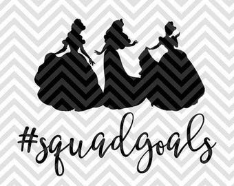 Squad Goals .svg file for Cricut and Silhouette