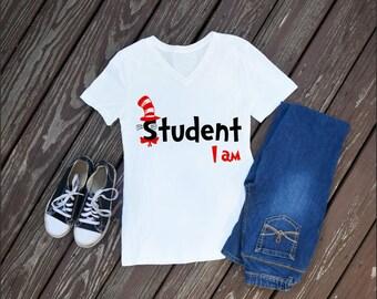 Student I Am Women's T-Shirt, Dr Seuss, Disney Shirts, Custom Shirts