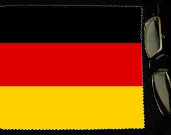 Cloth wipes Germany flag sunglasses