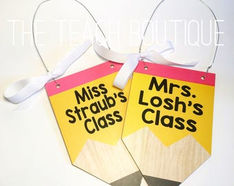 Pencil Classroom Door Sign