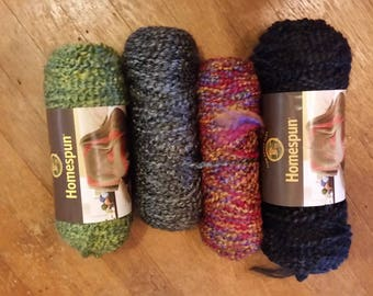 Assorted Colors - Homespun Yarn - Free Shipping