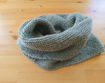Hand made knitted tube scarf