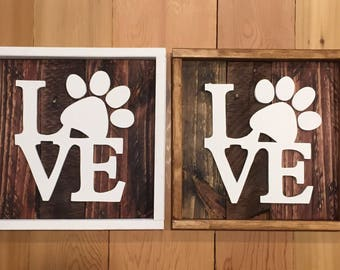 Dog lover paws love