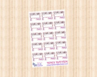 Pay Store Card // Diary // Planner // Stickers