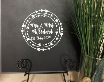Custom Wedding Sign Decal, Wedding Decal, Wedding Gift