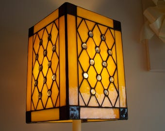New stock item.......An art  Deco style geometric Light shade. Absolutey a must to have.