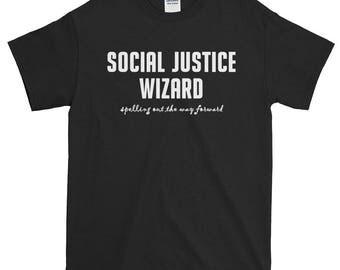 Social Justice Wizard Unisex Short-Sleeve T-Shirt SJW politics geeky nerd D&D feminist feminism