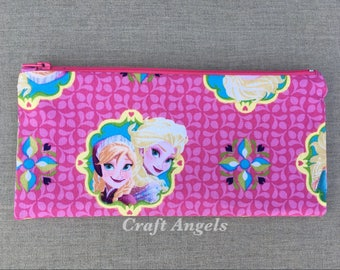 Character Zipper Pouch, pen/pencil case/pouch, Cosmetic Case, Personalized Pencil Case, Back To School /Gift For Her/ School Supplies.