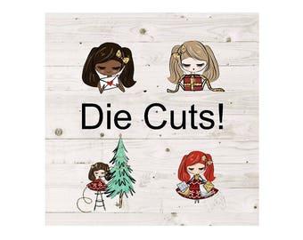 Planner Stickers Christmas Girl Die Cuts