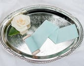 "2"" inch Mint Ribbon on wood spool - Hand Spun Unfinished Raw Edge Ribbon - Bouquet Stationary Invitation Suite"