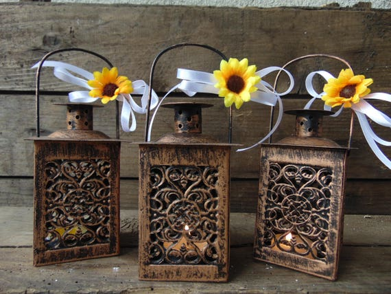 Mylovelyweddingday Set Of 10 Rustic Wedding Lanterns
