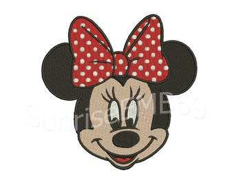 6 Sizes**Minnie Mouse Embroidery design- 8 formats machine embroidery design - Instant Download machine embroidery pattern