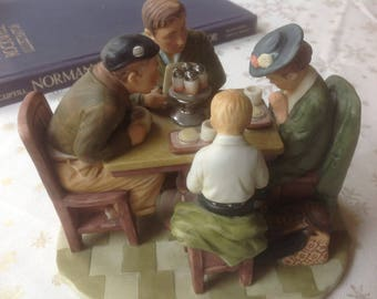 """Vintage Norman Rockwell """"Grace Before Meals"""" by Gorham"""