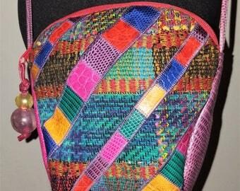 Vintage 1980's Sharif patchwork crossbody bag