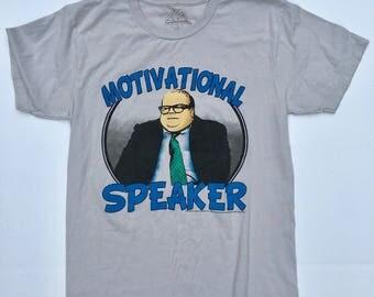 Chris Foley Motivational speaker T shirt! Chris Farley, saturday night live. Gray 100% cotton SOFT! Medium 90s