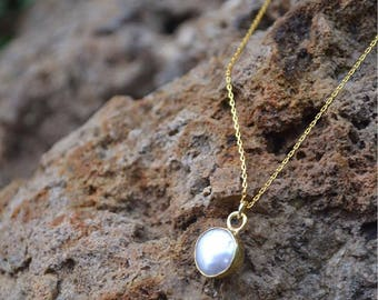 Mother pearl necklace - necklace mother of Pearl