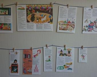 Illustrations circus, acrobatics, theatre, fairground, dress up, make up-decoration VINTAGE