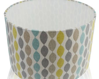 Clarke and Clarke Twist Aqua Lampshade / Table Lamp / Pendant