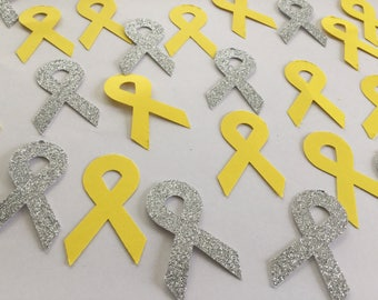 Sarcoma/bone cancer ribbon confetti, bone cancer awareness, sarcoma cancer awareness