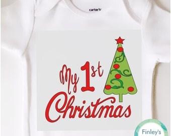 My 1st Christmas tree Baby Onesie