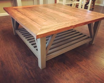 Farmhouse Style Coffee Table (Local Pickup Only)