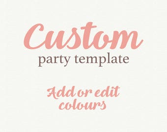 Add On Wedding Template, Party Template, Color Change, Color invitation options, Printable Wedding, Invitation template, Wedding invitation