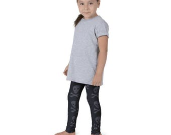 "Lil Girls Love Skulls"" LHK leggings"