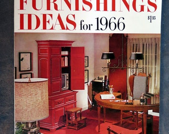 Better Homes & Garden Home Furnishing Ideas for 1966 Magazine