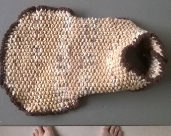 hand knitted dog cape coat