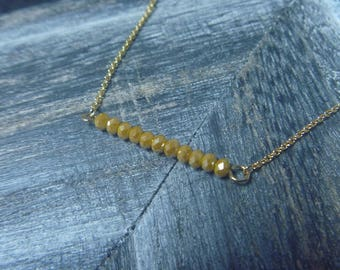 Necklace beads gemstone gold