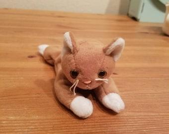 Ty Beanie Babies Nip tan cat with white paws