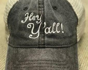 Hey Y'all soft mesh snap back cap