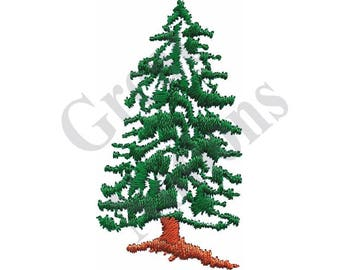 Small Evergreen Tree - Machine Embroidery Design