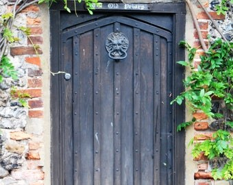 Antique wooden door, Sussex Countryside Wall Art, Sussex, photo print, British countryside, Scenic Photography, Picturesque print, England,