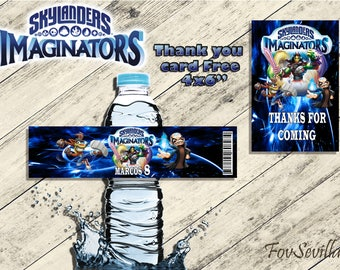 Tag water bottle skylanders, birthday tags skylanders, party skylanders, party skylanders, birthday skylanders, skylanders,