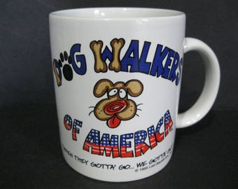 Dog Walkers Mug, Dog Walkers of America by Laid Back Enterprises