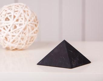 Shungite Pyramid Unpolished Pyramid 1.2-2 inch. 3 4 5 cm Shungite Matt EMF Protect Black Stone Healing Karelian Shungite For Root Chakra