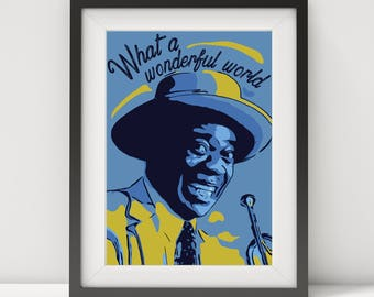 Louis Armstrong, Louis Armstrong poster, Louis Armstrong print, music poster, jazz poster, blues poster, quote poster, pop art, art print