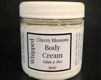 8 oz Whipped Body Cream, body butter, handmade lotion, Shea Butter