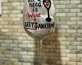 Grey's Anatomy wine glass