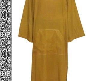 uzbek natural pure cotton tunic loungewear relaxed texture soft comfortable unisex b802