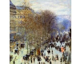 Boulevard of Capucines -Claude Monet Oil Painting Museum Quality Reproduction