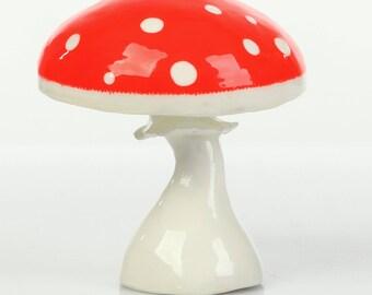Art Decor Painting Art Figurine Mushroom Home Decor Acrylic Painting Art Collectible Handmade Gift Papier mache Mushroom