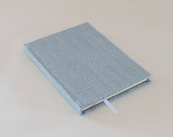 Blue hardcover notebook journal A5 handmade