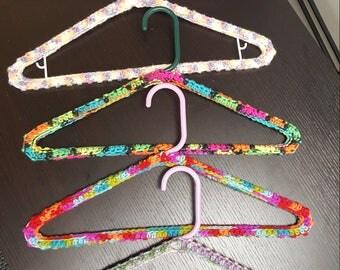 Handmade Crochet Hangers, Crochet Hangers, No Slip Hangers, Yarn Hangers, Sweater Hanger, Jacket Hanger, Coat Hanger, Crochet Coat Hanger
