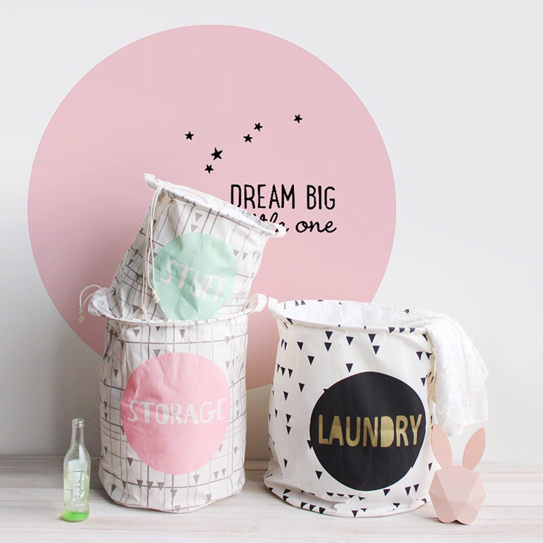 panier linge panier linge tissu panier de jouets panier. Black Bedroom Furniture Sets. Home Design Ideas