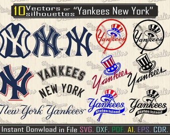 Yankees of new york svg, vector equipment baseball for printing, design for cutting, I file svg, dxf, vector NY yankees printable file